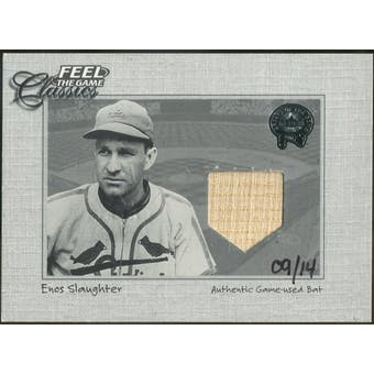 2004 National Pastime Buyback Game Used #ES1 Enos Slaughter 01 GG FGC Bat #/14 (Reed Buy)