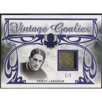 2017/18 Leaf Masked Men Vintage Goalies Memorabilia Purple #VG11 Percy LeSueur #/2 (Reed Buy)