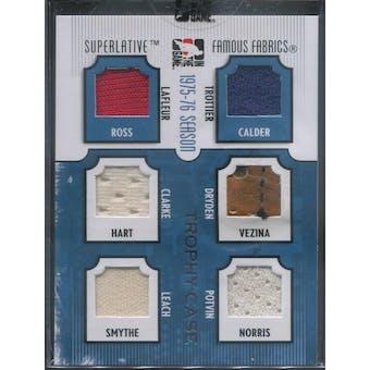 2009/10 ITG Superlative Famous Fabrics Trottier/Dryden/Potvin/LaFleur/Clarke/Leach #/9 (Reed Buy)