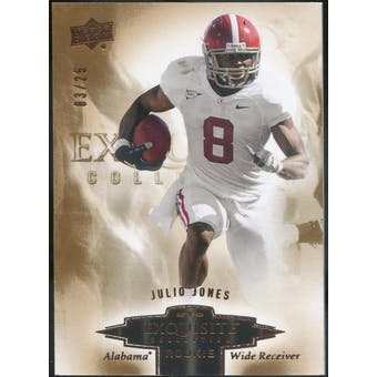 2010 Exquisite Collection Draft Picks Bronze #ERJO Julio Jones #/25 (Reed Buy)