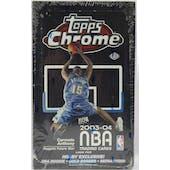 2003/04 Topps Chrome Basketball Hobby Box (Reed Buy)