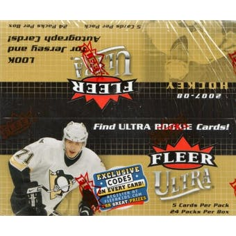 2007/08 Fleer Ultra Hockey 24-Pack Box