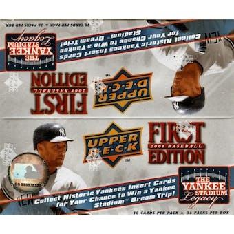 2008 Upper Deck 1st Edition Baseball 36-Pack Box