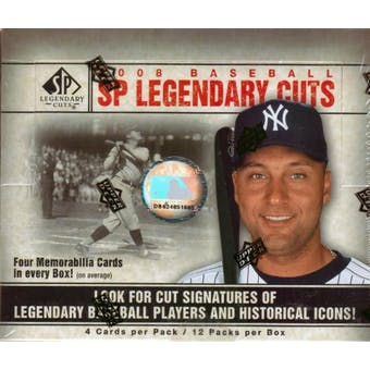 2008 Upper Deck SP Legendary Cuts Baseball Hobby Box