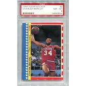 1987/88 Fleer Stickers #6 Charles Barkley PSA 8 *3854 (Reed Buy)