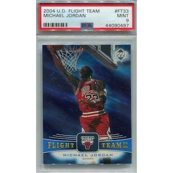 2004/05 UD Flight Team #FT33 Michael Jordan PSA 9 *0497 (Reed Buy)