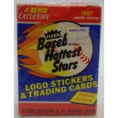 1987 Fleer Hottest Stars Baseball Factory Set (Reed Buy)
