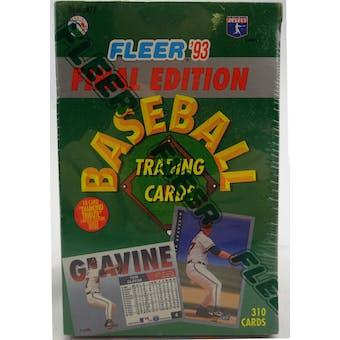 1993 Fleer Final Edition Baseball Factory Set (Reed Buy)