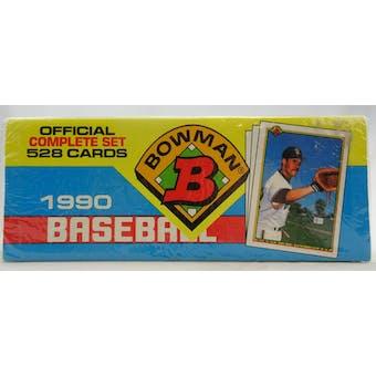 1990 Bowman Baseball Factory Set (Christmas Box) (Reed Buy)