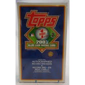2003 Topps Series 1 Baseball Jumbo Box (Reed Buy)