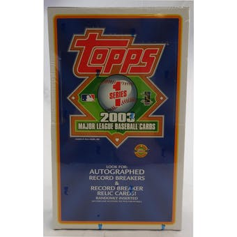 2003 Topps Series 1 Baseball Jumbo Box (Reed Buy)