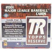 2001 Topps Reserve Baseball Hobby Box (Reed Buy)