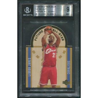 2003/04 Upper Deck Basketball #E15 LeBron James SE Die Cut Rookie BGS 9 (MINT)
