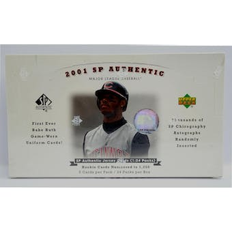 2001 Upper Deck SP Authentic Baseball Hobby Box (Reed Buy)