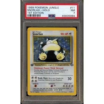 Pokemon Jungle 1st Edition Snorlax 11/64 PSA 7