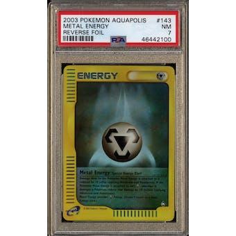 Pokemon Aquapolis Reverse Foil Metal Energy 143/147 PSA 7