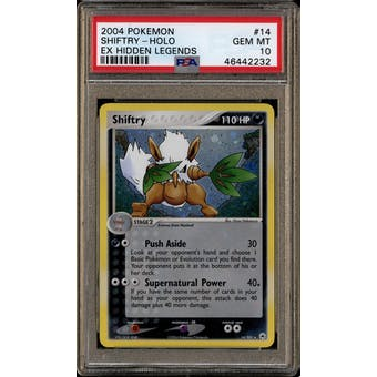 Pokemon EX Hidden Legends Shiftry 14/101 PSA 10 Gem Mint