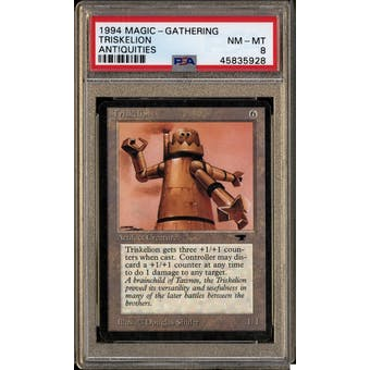 Magic the Gathering Antiquities Triskelion PSA 8