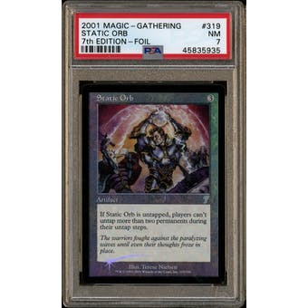 Magic the Gathering 7th Edition Foil Static Orb PSA 7