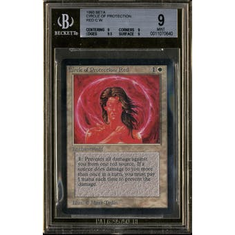 Magic the Gathering Beta Circle of Protection: Red BGS 9 (9, 9, 9.5, 9)
