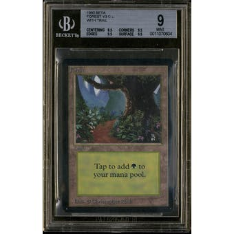 Magic the Gathering Beta Forest V3 BGS 9 (8.5, 9.5, 9.5, 9.5)