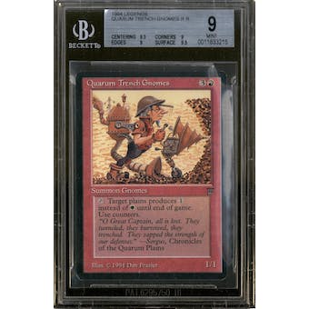 Magic the Gathering Legends Quarum Trench Gnomes BGS 9 (9.5, 9, 9, 9.5)