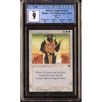 Magic the Gathering Legends Akron Legionnaire CGC 9