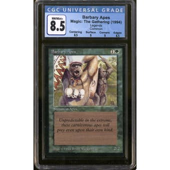 Magic the Gathering Legends Barbary Apes CGC 8.5