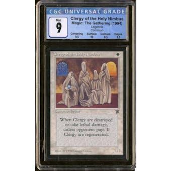 Magic the Gathering Legends Clergy of the Holy Nimbus CGC 9 B+++