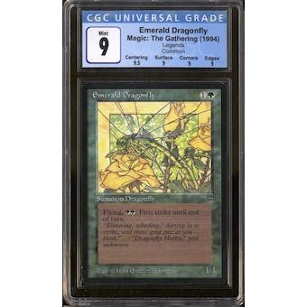Magic the Gathering Legends Emerald Dragonfly CGC 9