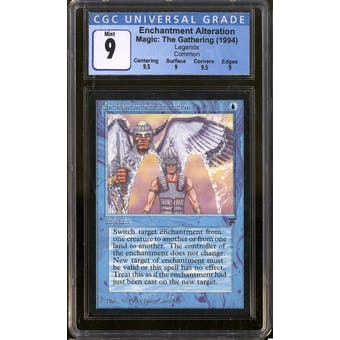 Magic the Gathering Legends Enchantment Alteration CGC 9 Q++