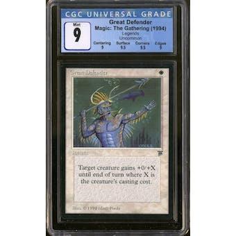 Magic the Gathering Legends Great Defender CGC 9 Q++