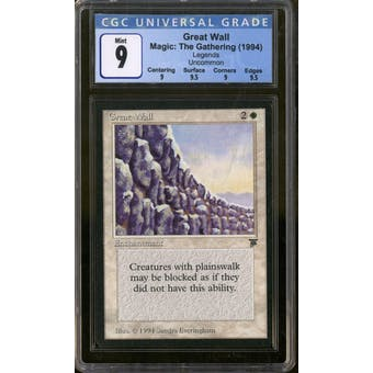 Magic the Gathering Legends Great Wall CGC 9 Q++