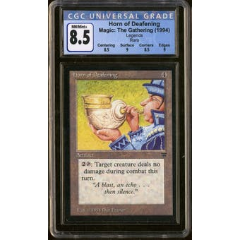 Magic the Gathering Legends Horn of Deafening CGC 8.5