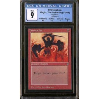 Magic the Gathering Legends Immolation CGC 9