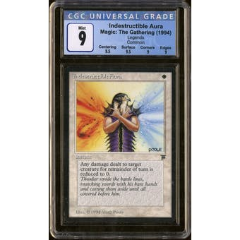 Magic the Gathering Legends Indestructible Aura CGC 9 Q++