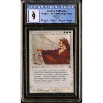 Magic the Gathering Legends Infinite Authority CGC 9