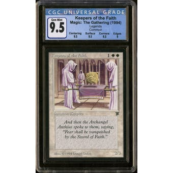 Magic the Gathering Legends Keepers of the Faith CGC 9.5 Gem Mint