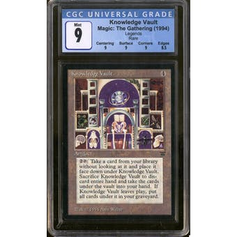 Magic the Gathering Legends Knowledge Vault CGC 9