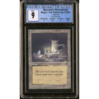 Magic the Gathering Legends Mountain Stronghold CGC 9