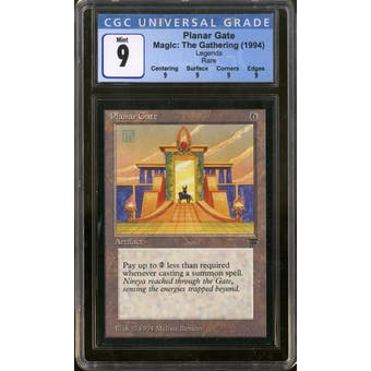 Magic the Gathering Legends Planar Gate CGC 9 Q