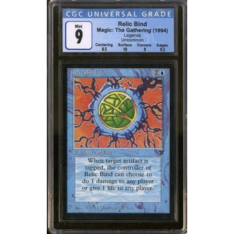 Magic the Gathering Legends Relic Bind CGC 9