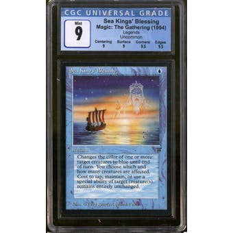 Magic the Gathering Legends Sea Kings' Blessing CGC 9 Q++