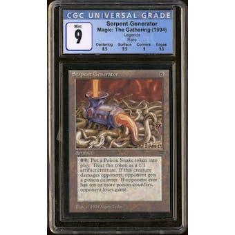 Magic the Gathering Legends Serpent Generator CGC 9