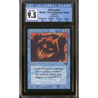 Magic the Gathering Legends Silhouette CGC 9.5 Gem Mint Q