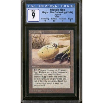 Magic the Gathering Legends Triassic Egg CGC 9 Qx+