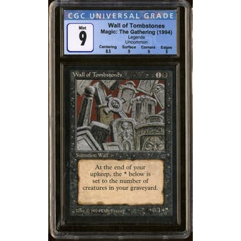 Magic the Gathering Legends Wall of Tombstones CGC 9