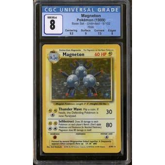 Pokemon Base Set Unlimited Magneton 9/102 CGC 8