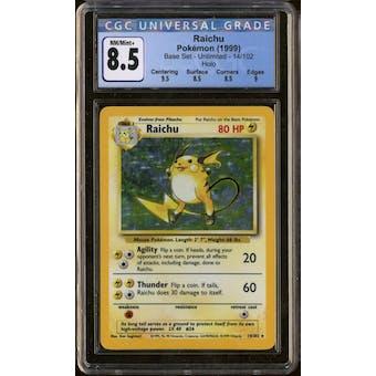 Pokemon Base Set Unlimited Raichu 14/102 CGC 8.5