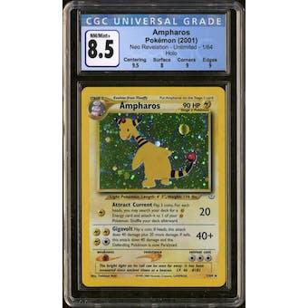 Pokemon Neo Revelation Ampharos 1/64 CGC 8.5